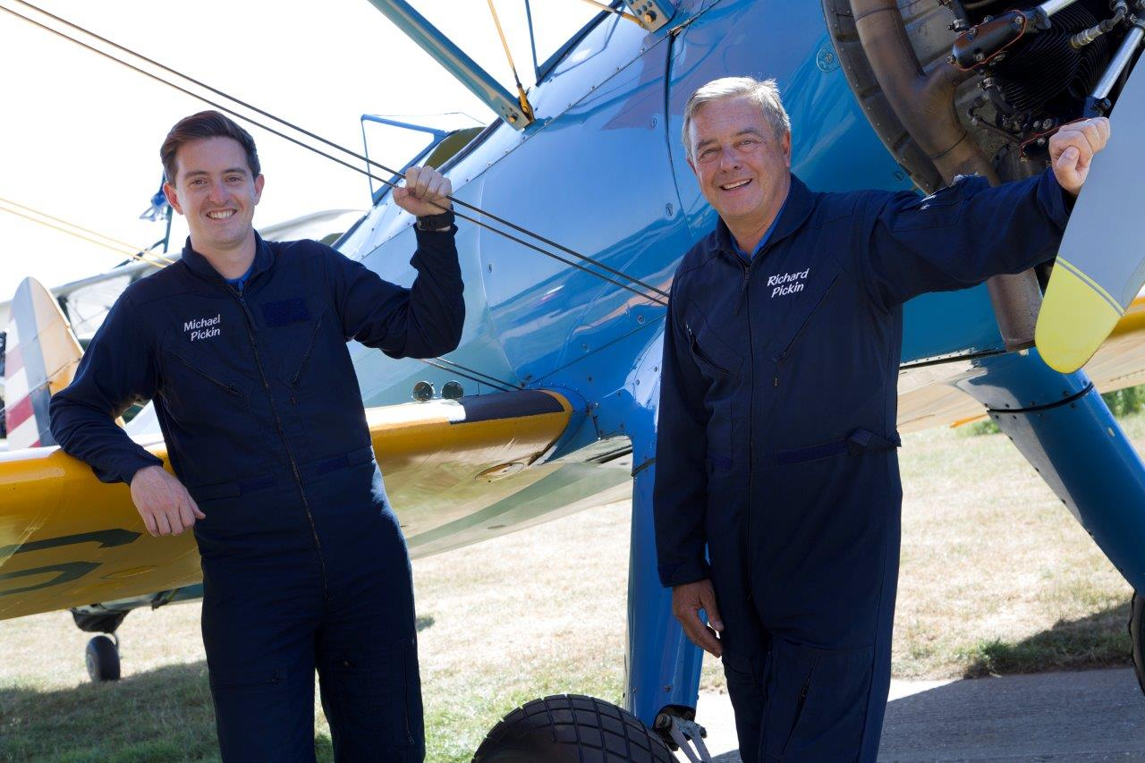 Father and Son Pilots Training for War